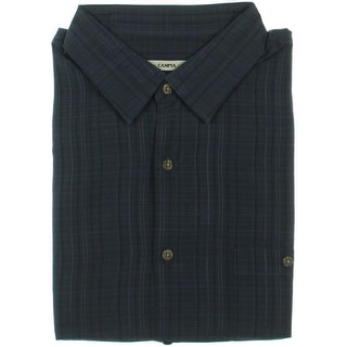 Moda Campia Moda Mens Button-Down Shirt Textured Microfiber