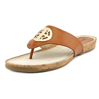 Rialto Calista Women Open Toe Leather Brown Sandals