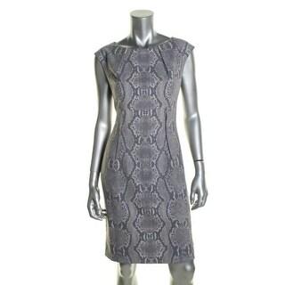 Calvin Klein Womens Snake Print Sleeveless Wear to Work Dress - 8