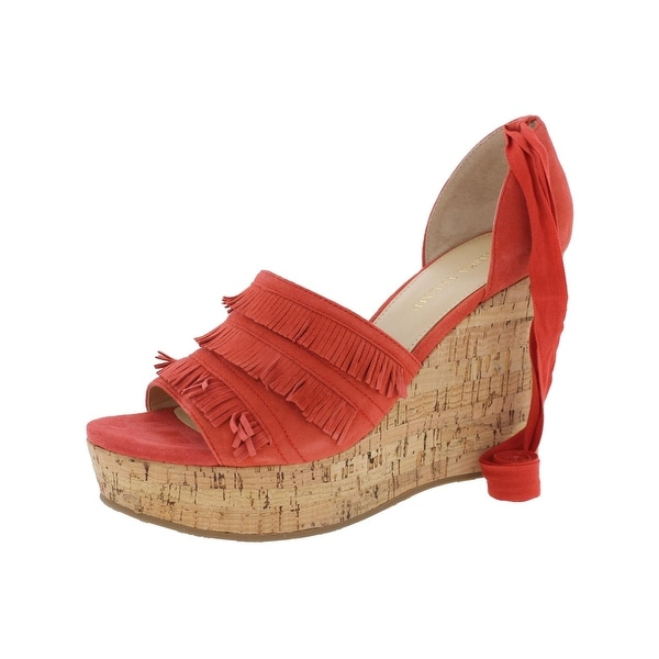 Ivanka Trump Womens Zabre Wedge Sandals Cork Open Toe