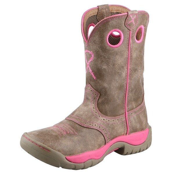 Twisted X Western Boot Women Cowboy All Around Dusty Tan Pink