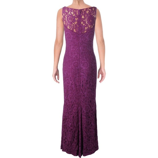 Lauren Ralph Lauren Womens Evening Dress Lace Sleeveless