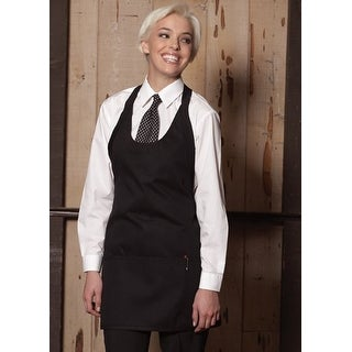 Scoop Neck Apron in Black