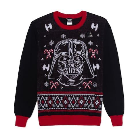 Star Wars Mens Sweater Black Size XL Darth Vader Pullover Crewneck