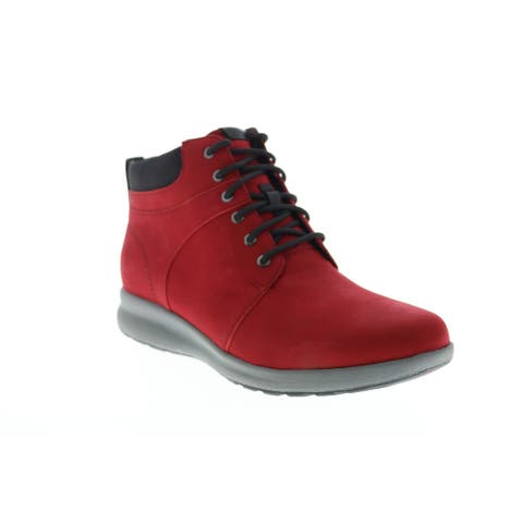 Clarks Un Adorn Walk Red Womens Casual Dress Boots