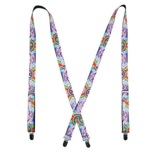 Buckle Down Women's Rainbow Unicorn Novelty Suspenders - One size