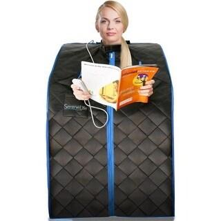 SereneLife SLISAU10BK Compact & Portable Infrared Sauna, Black