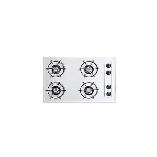 Summit WNL05P 30 Inch Wide Gas Cooktop - White - N/A