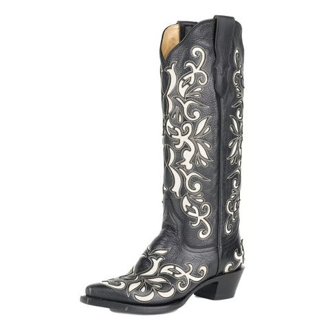 Stetson Western Boot Womens Ivy Black Durango