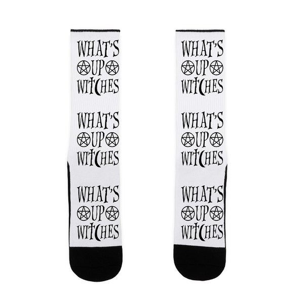 What's Up Witches US Size 7-13 Socks by LookHUMAN