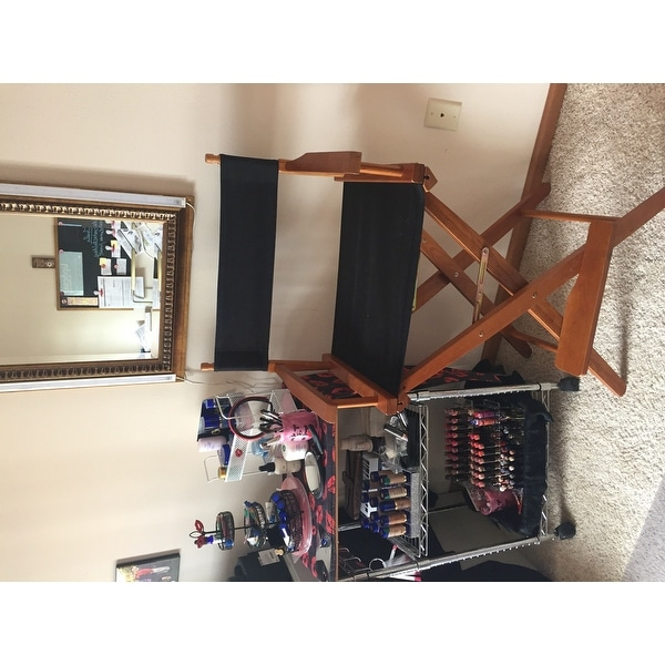 Shop American Trails Extra Wide 30 Inch Premium American Oak Bar Height Directors  Chair   Free Shipping Today   Overstock.com   8372908