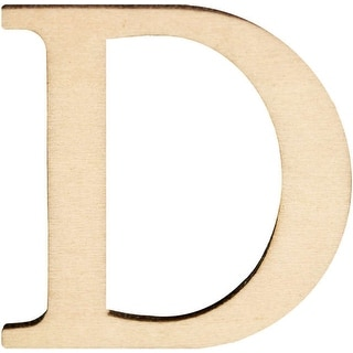 "Wood Letters & Numbers 1.5"" 2/Pkg-D"