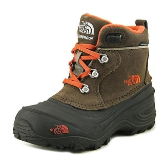 The North Face Chilkat II Youth Round Toe Leather Brown Boot
