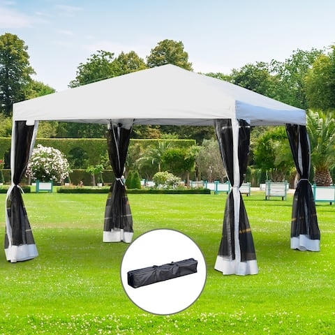 Outsunny 10' x 10' Backyard Pop-up Canopy Shade Tent