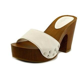 Jessica Simpson Karema Open Toe Leather Platform Sandal