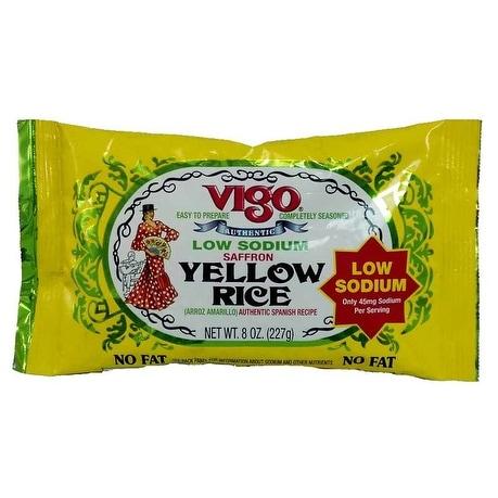 Vigo Yellow Rice - Low Sodium - Case of 12 - 8 oz.