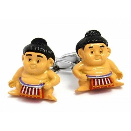 Sumo Wrestler Sport Wrestling Cufflinks