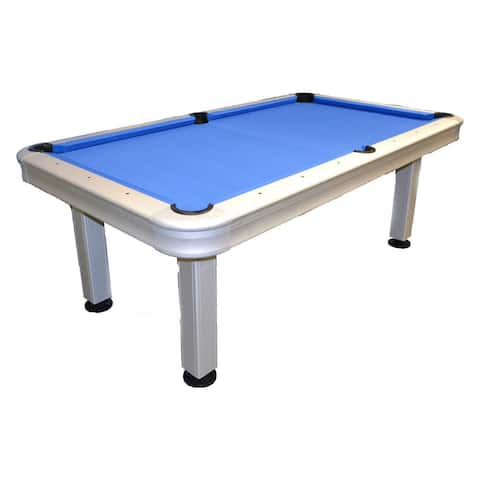 Imperial 7' Outdoor Pool Table with all Accessories / 29-730 - Silver