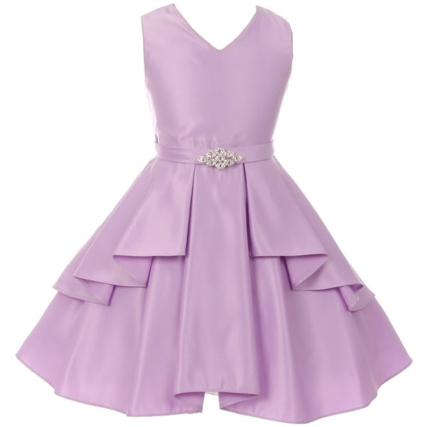 692ea3c3fe0 Shop Flower Girl Dress Solid Dull Satin Overlay Lilac GG 3571 - Free  Shipping On Orders Over  45 - Overstock - 17752285
