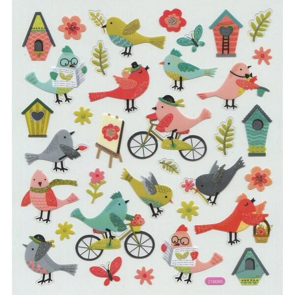 Multicolored Stickers-Bird Life