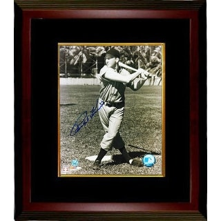 Ralph Kiner signed Pittsburgh Pirates Sepia 8x10 Photo Custom Framed (deceased- batting)