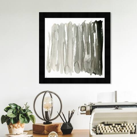 Oliver Gal 'Ecleco Minimalista' Abstract Wall Art Framed Print Watercolor - Gray, Black