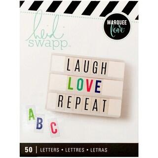 Heidi Swapp Lightbox Inserts 50/Pkg-Alphabet/Multi Color Bold On White