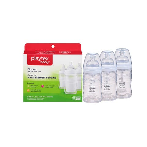 Playtex Baby, Nurser with Drop-Ins Liners, 4 Oz , 3 Count 15 Disposable Liners