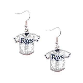 MLB Tampa Bay Rays  Glitter Jersey Dangle Earring Set Charm Gift