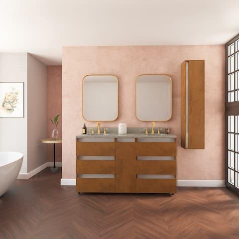 """Memphis 60"""" Vanity Base Cabinet Autumn Oak Wood 60 X 33,5 X 21,5 In - Autumn Oak"""