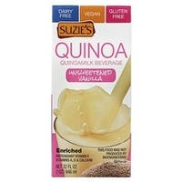 Suzie's Quinoa Milk Beverage - Unsweetened Vanilla - Case of 6 - 33.8 Fl oz.
