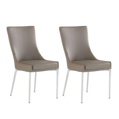 Somette Patty Designer Seat Dining Chair, Set of 2
