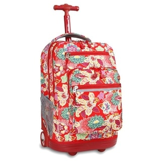 J World New York Sundance Rolling Backpack, Passion