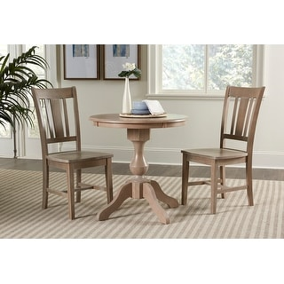 "30"" Round Top Dining Table  with 2 San Remo Chairs - 3 Piece Set"