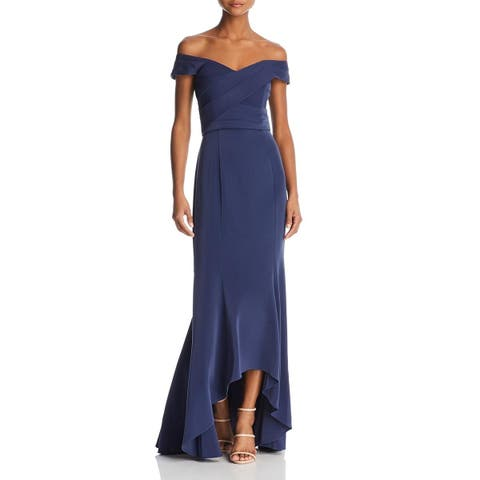 Laundry by Shelli Segal Womens Evening Dress Off-The-Shoulder A-Line