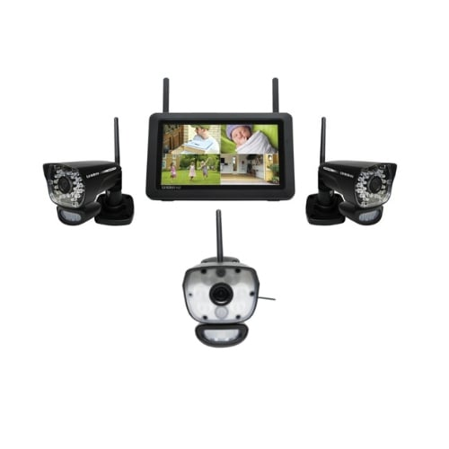 "Uniden UDR780HD plus ULC58-1 7"" HD Weatherproof Wireless Security Camera System w/ Motion Detection"
