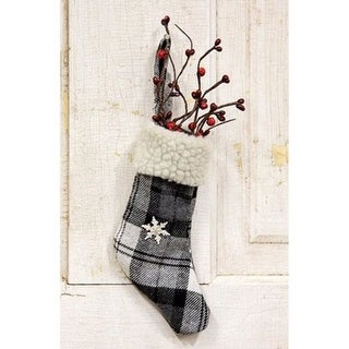 Link to Black & White Plaid Stocking Ornament With Snowflake Similar Items in Christmas Decorations