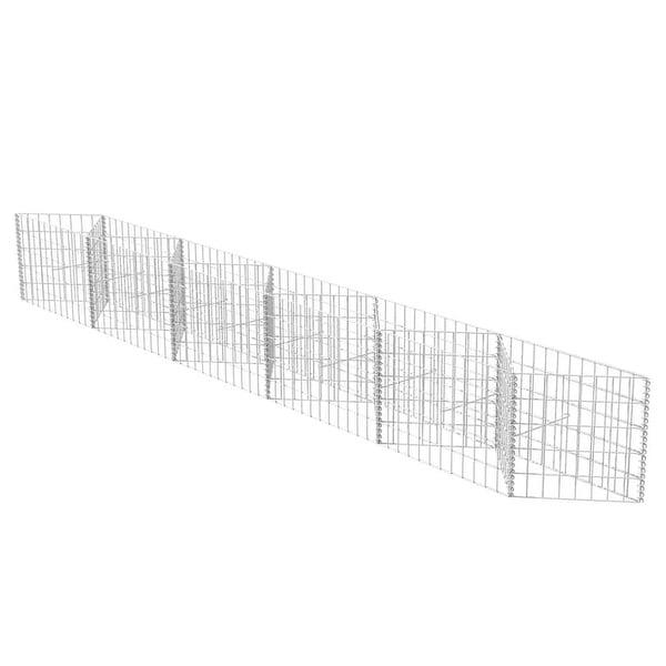 "vidaXL Gabion Basket/Planter/Raised Bed 118.1""x11.8""x19.7"". Opens flyout."