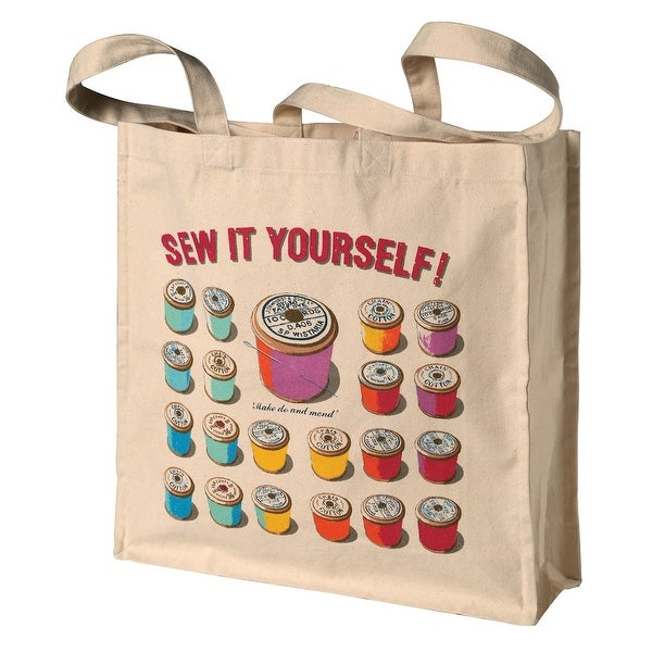 Shop Ulster Weavers Women s Sew It Yourself Cotton Tote Bag - Reusable  Shopping Bag - Medium - Free Shipping On Orders Over  45 - Overstock.com -  25576310 9b16c53335