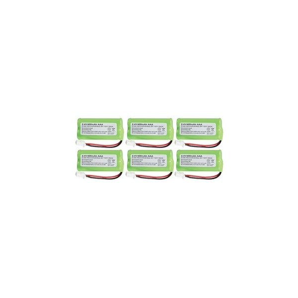 Replacement For VTech BT162342 Cordless Phone Battery (750mAh, 2.4V, NiMH) - 6 Pack