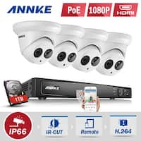 ANNKE 8CH 8 Indoor Outdoor 1080P POE CCTV HD Security Cameras System
