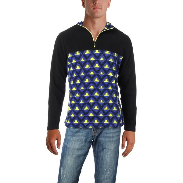 PrAna Mens Arnu Pullover Coat Fleece Printed