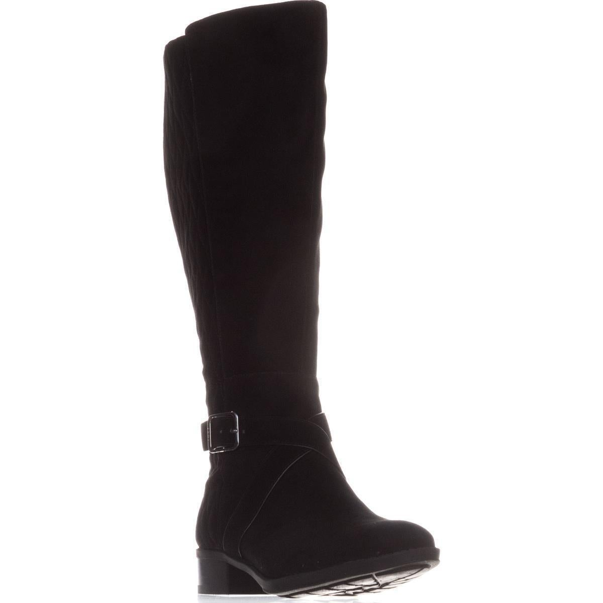 3c32a7fe3c9 Shop DKNY Mattie Flat Knee-High Boots, Black Suede - On Sale - Free  Shipping Today - Overstock - 19218612
