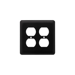 Franklin Brass W10250-C Stamped Steel Round Double Duplex Outlet Wall Plate - N/A