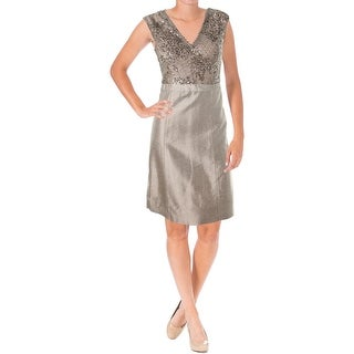 Kay Unger New York Womens Sequined Sleeveless Cocktail Dress - 8