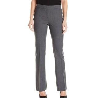 Anne Klein NEW Light Gray Women's Size 2X32 Slim Bootcut Dress Pants