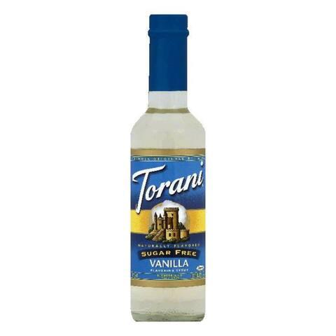 Torani Sugar Free Vanilla Flavoring Syrup, 12.7 OZ (Pack of 4)