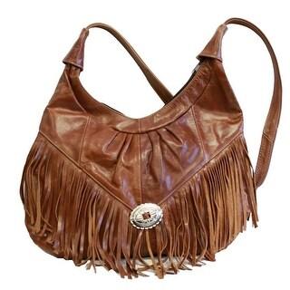 Fringe Hobo Bag - Soft Genuine Leather