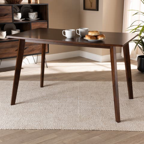 Britte Mid-Century Modern Transitional Rectangular Wood Dining Table