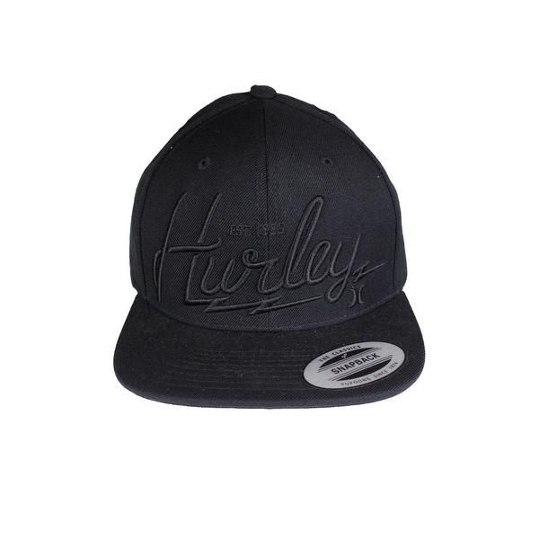 Shop Hurley Black Men s One Size Adjustable Bolt Snapback Baseball Cap 412  - Free Shipping On Orders Over  45 - Overstock.com - 22468489 1a30038e9687